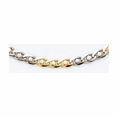 Men's 14k Two Tone Hand-polished Heavy 20 inch Link Chain