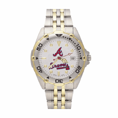 Mens MLB Atlanta Braves Stainless Steel All Star Watch