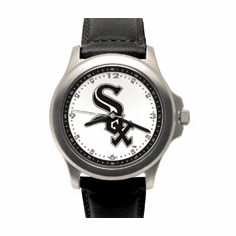 Mens MLB Chicago White Sox Leather Band Rookie Watch