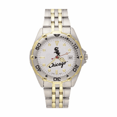 Mens MLB Chicago White Sox Stainless Steel All Star Watch