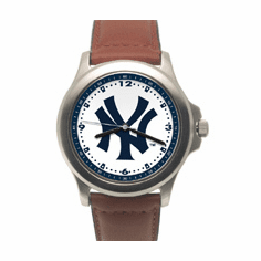 Mens MLB New York Yankees Leather Band Rookie Watch
