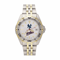 Mens MLB New York Yankees Stainless Steel All Star Licensed Watch