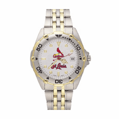 Mens MLB St. Louis Cardinals Stainless Steel All Star Watch