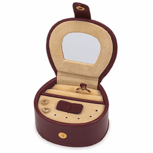 Mini Burgundy Jewelry Case