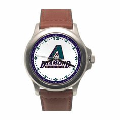 MLB Arizona Diamondbacks Leather Band Rookie Watch