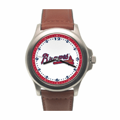 MLB Atlanta Braves Leather Band Rookie Watch