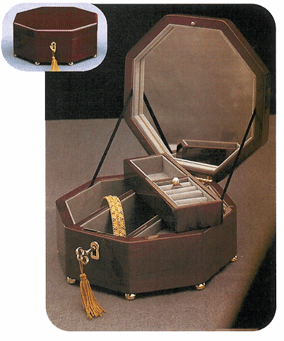 Octagonal Musical Jewelry Box
