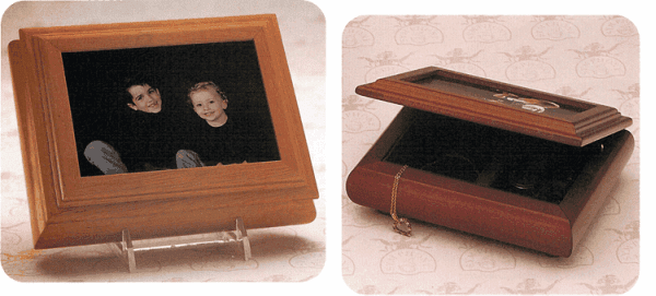 Picture Frame Musical Jewelry Box