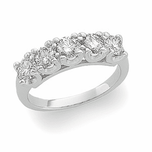 Platinum 1 1/4ct Diamond Anniversary Band