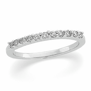 Platinum 1/5 ct tw Diamond Anniversary Band