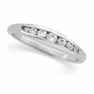 Platinum 1/5 ct tw Round Cut Diamond Anniversary Band