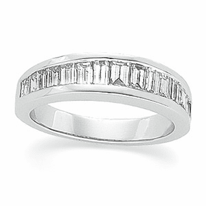 Platinum 1 ct TW Diamond Annversary Band
