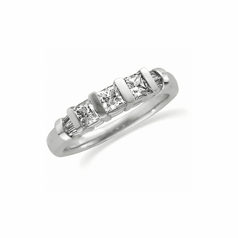 Platinum 3/4ct TW Diamond Anniversary Band