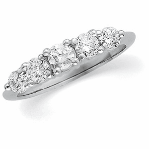 Platinum and Diamond Anniversary Band, 1/2cttw