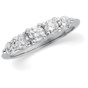 Platinum Diamond Anniversary Bands