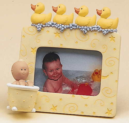 """Polka Tots Bath Time With Ducks Frame, Resin 4.75 H, Holds 2 x3 Picture"""""""