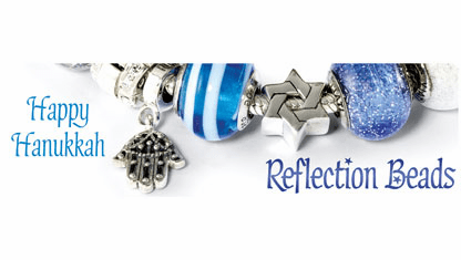 Reflection Beads Happy Hanukkah