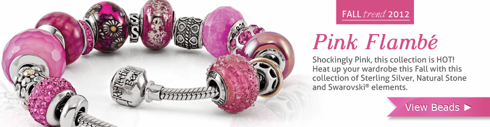 Reflection BEads Pink Flambe Complete Bead Set