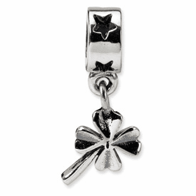 Reflection Beads Sterling Silver 4-leaf Clover Dangle Bead