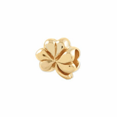 Reflection Beads Sterling Silver and Gold-plated Clover Bead