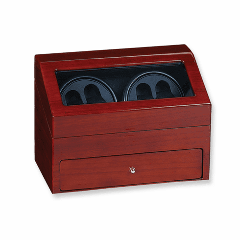 Rotations Four Watch Winder in Solid Wood Case