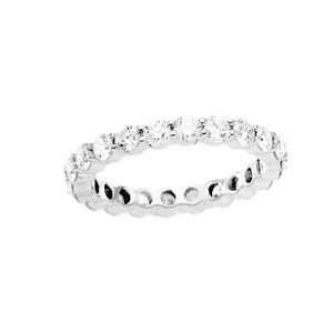 Round 2 ct tw Diamond & Platinum Eternity Band (Size 5.5 to 8.5)
