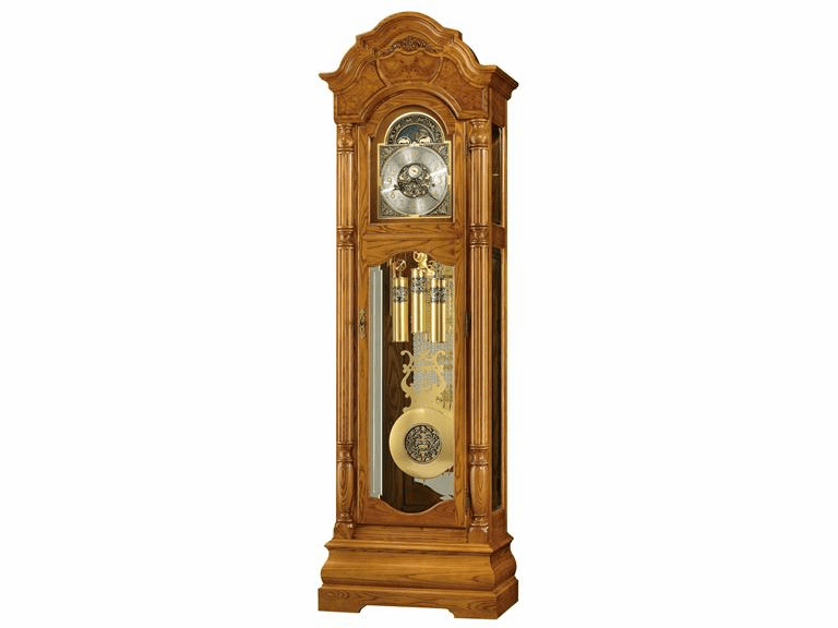 Scarborough Oak Finish Floor Clock  Model 611-114