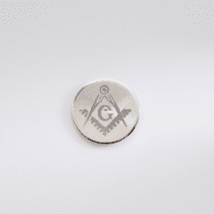 Silver Plated Masonic Tie Tac With Rhodium Finish