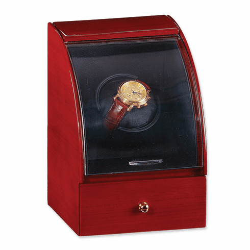 Solid Mahogany Wood Single Watch Winder