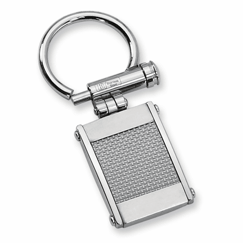 Stainless Steel Grey Carbon Fiber Key Chain