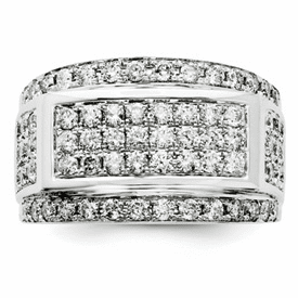 Sterling Silver 2ct. Diamond Men's Ring
