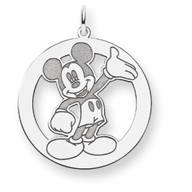 Sterling Silver Disney Waving Mickey Charm