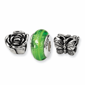 Sterling Silver Reflections Spring Boxed Bead Set