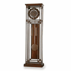 Tamarack Ironstone and Cherry Finish Floor Clock Model 615-050