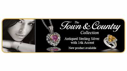 Town and Country Sterling Silver and 14k gold Jewelry Collection