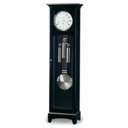 Urban III Black Finish Contemporary Floor Clock  Model 660125