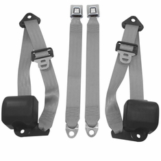 1992-1995 Jeep Wrangler Front Seat Belts 3pt Retractable -Pair