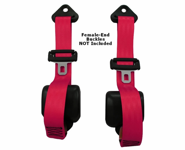 HIGH QUALITY UNIVERSAL BLUE 3 POINT BUCKLE RACING SEAT BELT HARNESS PAIR