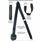 3 Point Retractable Seat Belt with Chrome Seatbelt Buckle - alternative view 1
