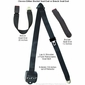 3 Point Retractable Seat Belt with End Button Release Seatbelt Buckle - alternative view 1