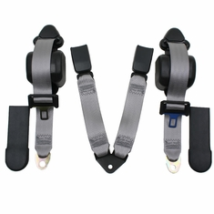 97'-06' Jeep Wrangler Seat Belts Pair 3 Pt Retractable Rear Direct Fit Belts