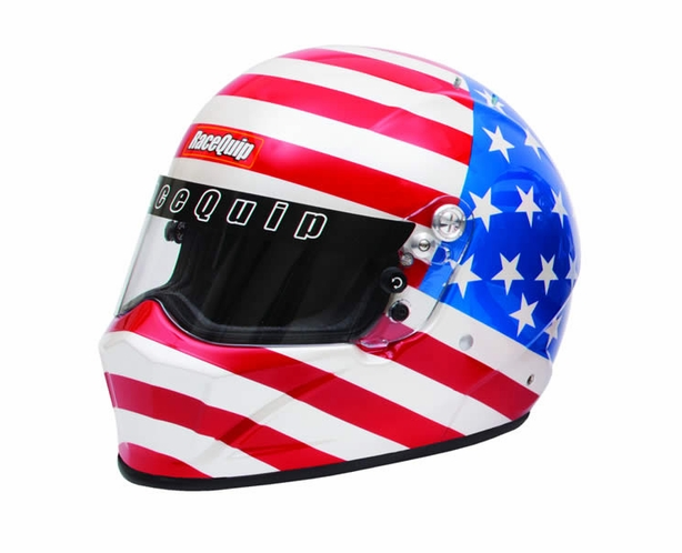 American Flag Helmet SA2015 Racequip Vesta 15 - alternative view 1