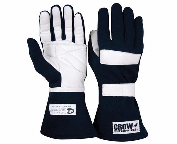 Crow Junior Nomex Racing Gloves Kids Length Fingers