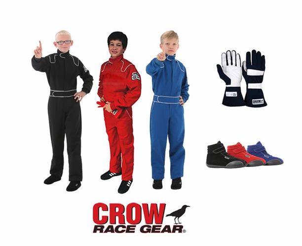 Crow Junior 1-Piece SFI-1 Racing Suit Package