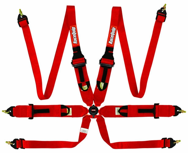 "FIA 6-Point Camlock 2"" Hans/FHR Harness 3"" Pull-up Lap Seat Belt Racequip"