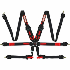 "FIA 6-Point Camlock 2"" Hans/FHR Harness and Pull-down Lap Belt Racequip"