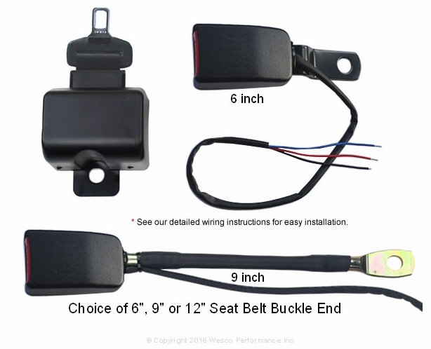 Micro-Switch Forklift Seat Belt Retractable - Both Circuit Closed and Open - alternative view 1