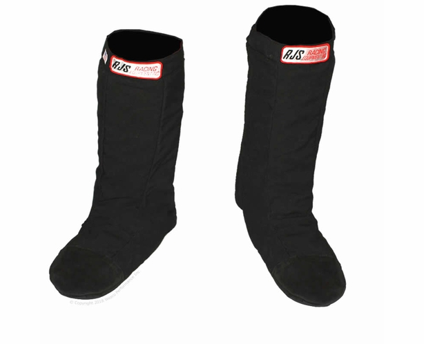 RJS SFI-20 Drag Racing Pull-Over Boots with Rubber Sole