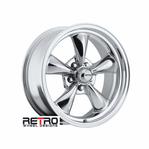 "17x7"" 930-P Retro Wheel Designs Polished wheels rims 5x4.50"" Ford lug-pattern 4.00"" backspace"