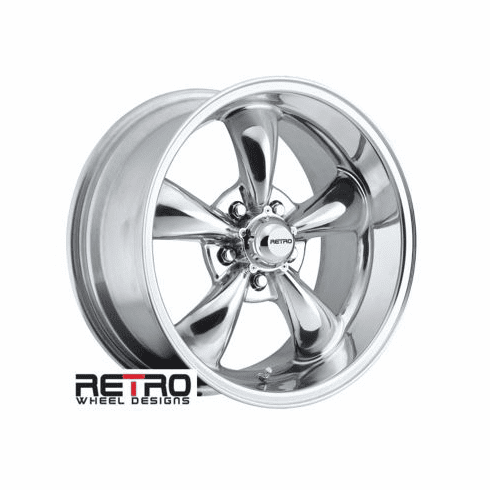 "18x9"" 930-P Retro Wheel Designs Polished wheels rims 5x4.75"" Chevy lug-pattern 5.00"" backspace"